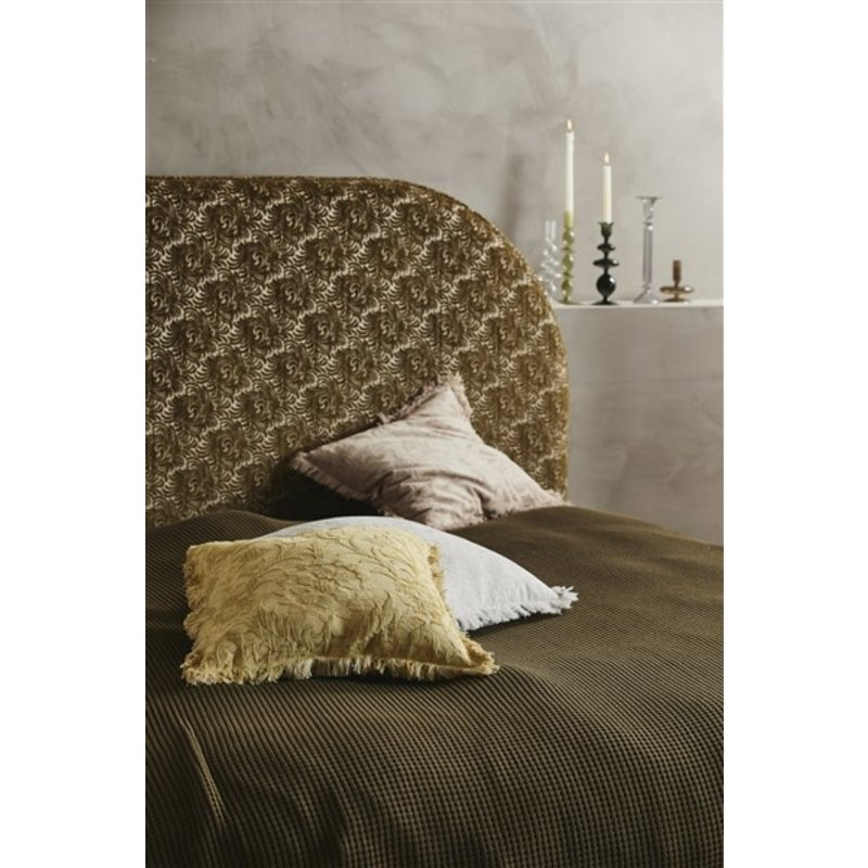 Nordal-collectie NEVA head board, jacquard fabric, olive