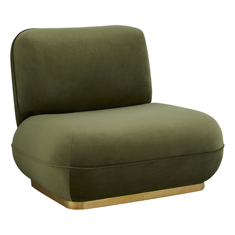 Nordal-collectie ISEO lounge chair, olive