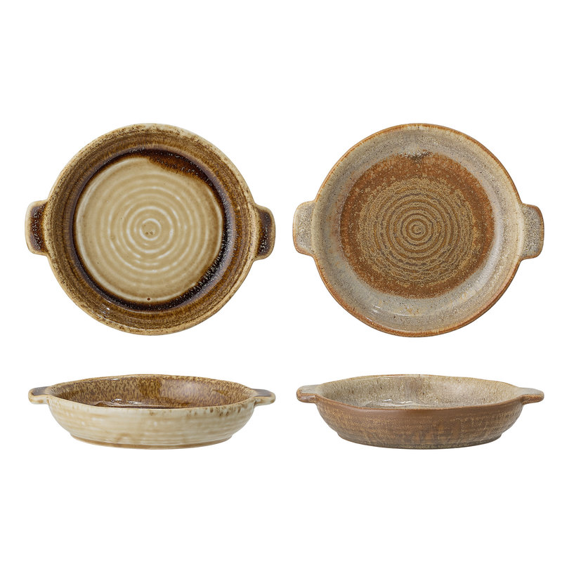 Bloomingville-collectie Willow Serving Bowl, Multi-color, Stoneware