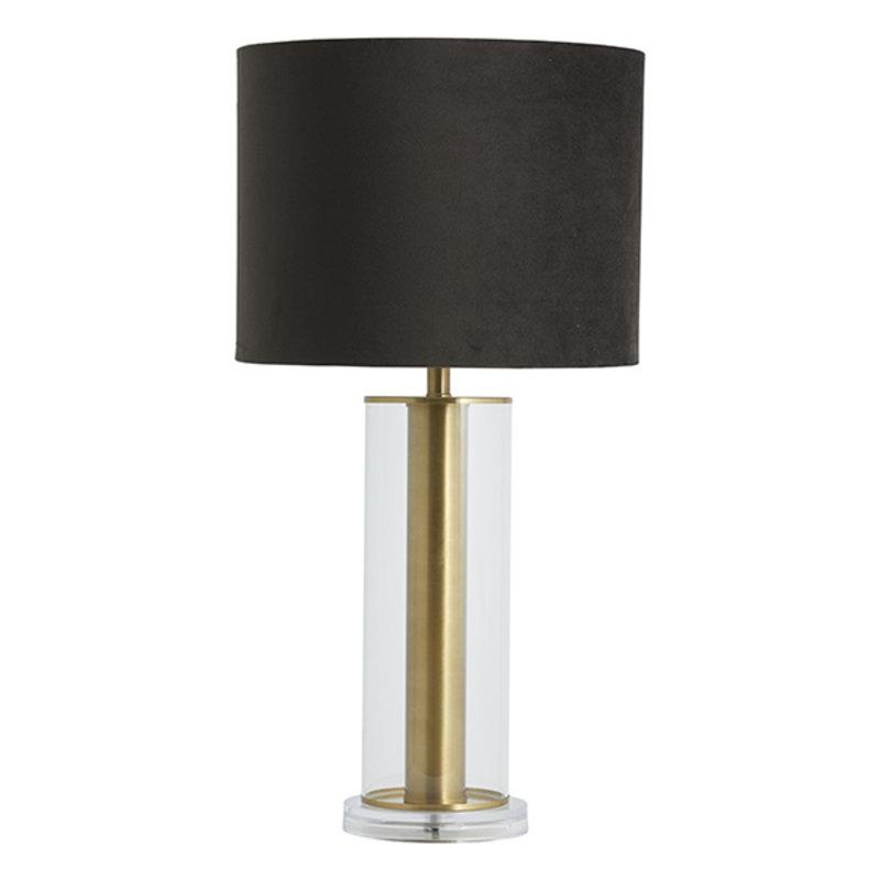 Nordal-collectie Velvet lampenkap donkerbruin