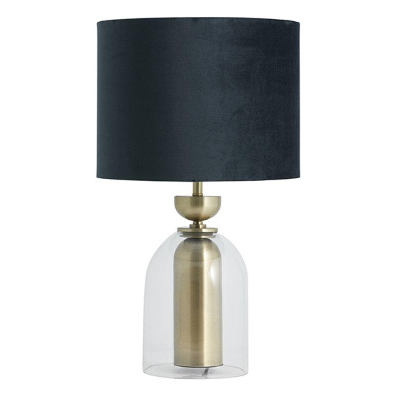 Nordal-collectie Velvet lampenkap donkergroen