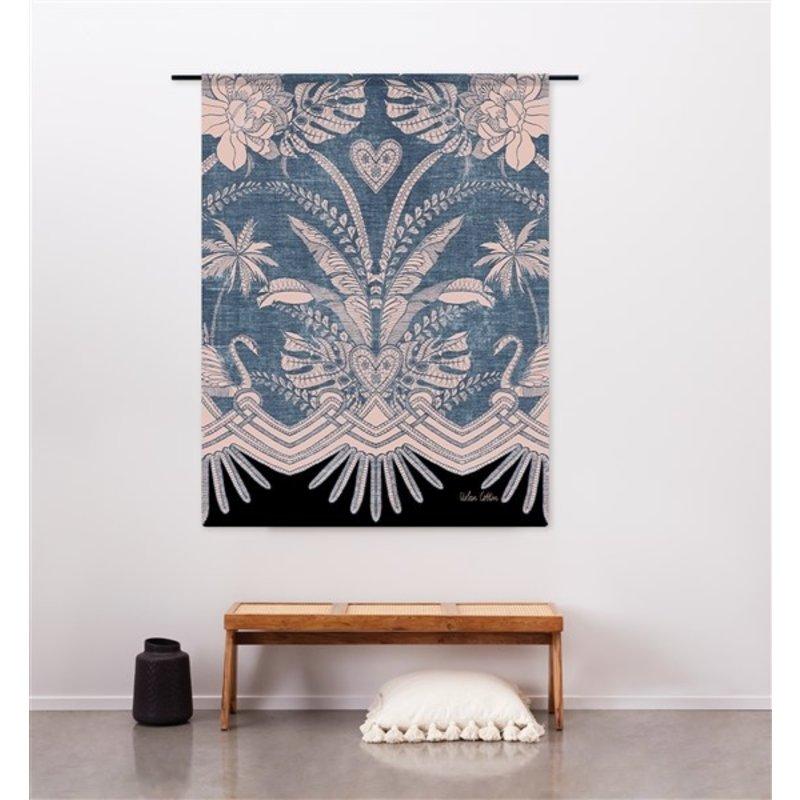 Urban Cotton Amsterdam-collectie Wandkleed Blue Denim