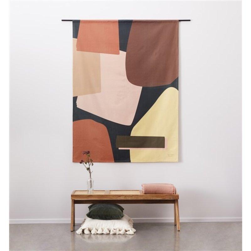 Urban Cotton Amsterdam-collectie Wandkleed Nuance