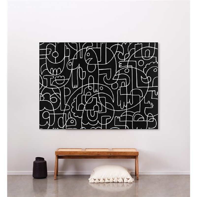Urban Cotton Amsterdam-collectie Wandkleed Doodles