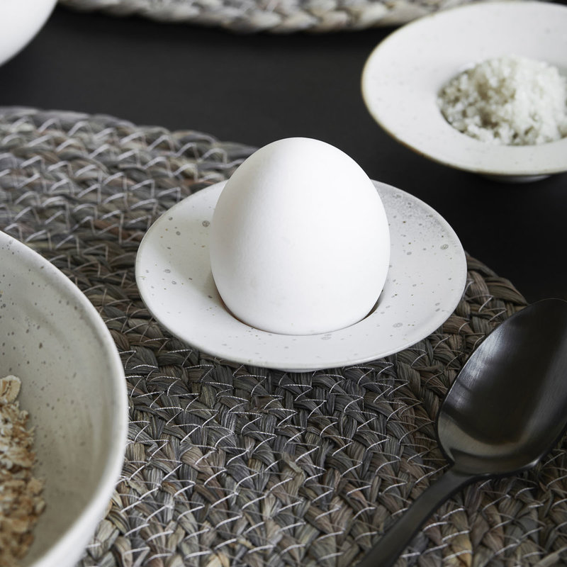 House Doctor-collectie Egg cup Pion Grey/White