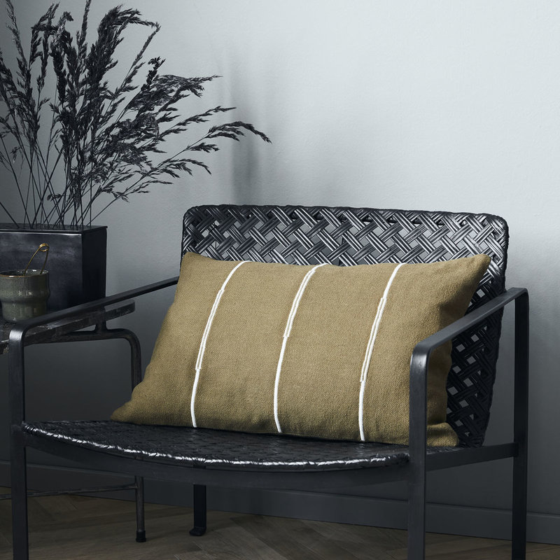House Doctor-collectie Cushion cover Indi Olive green