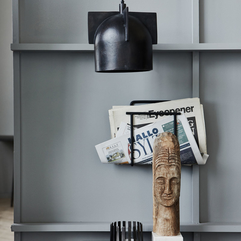 House Doctor-collectie Magazine holder Hold Black