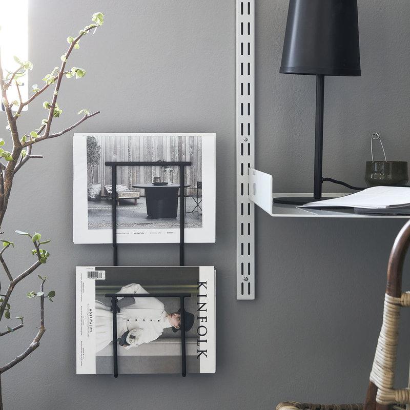 House Doctor-collectie Tijdschriftenhouder Hold Zwart 15x7x50 cm