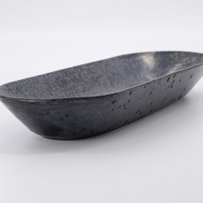 House Doctor-collectie Serveerschaal Pion Zwart/Bruin 35 cm