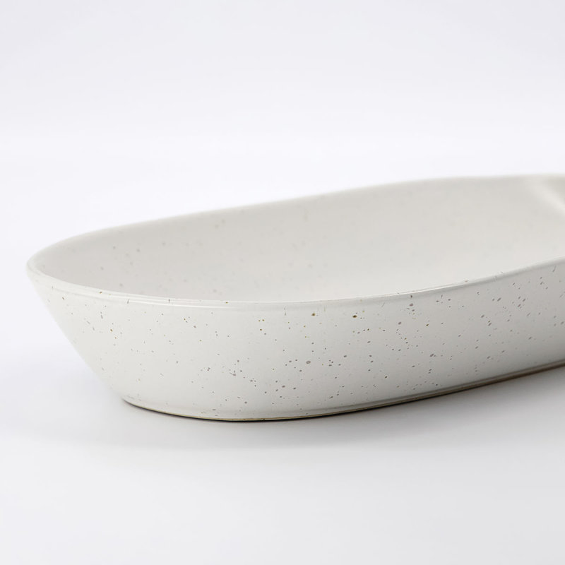 House Doctor-collectie Serving dish Pion Grey/White