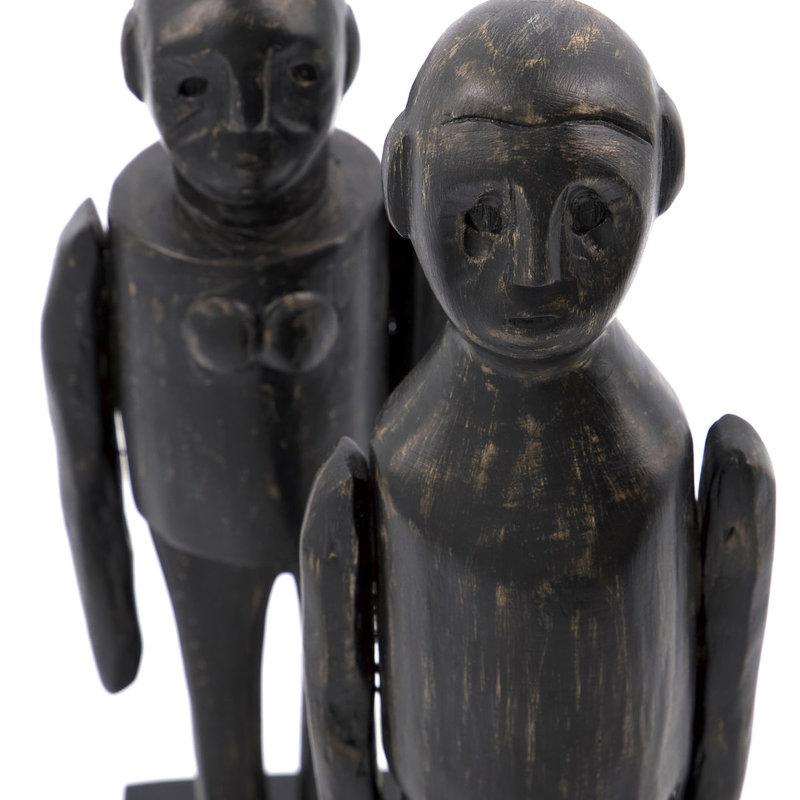 House Doctor-collectie Kunstwerk Spouses Zwart