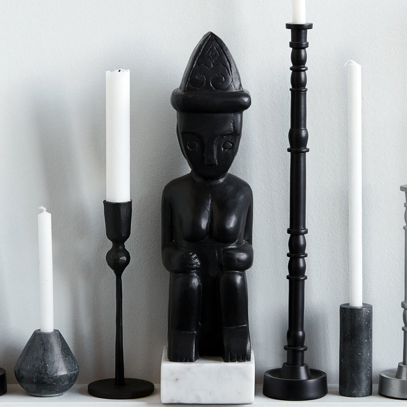 House Doctor-collectie Art piece Two sitting Black