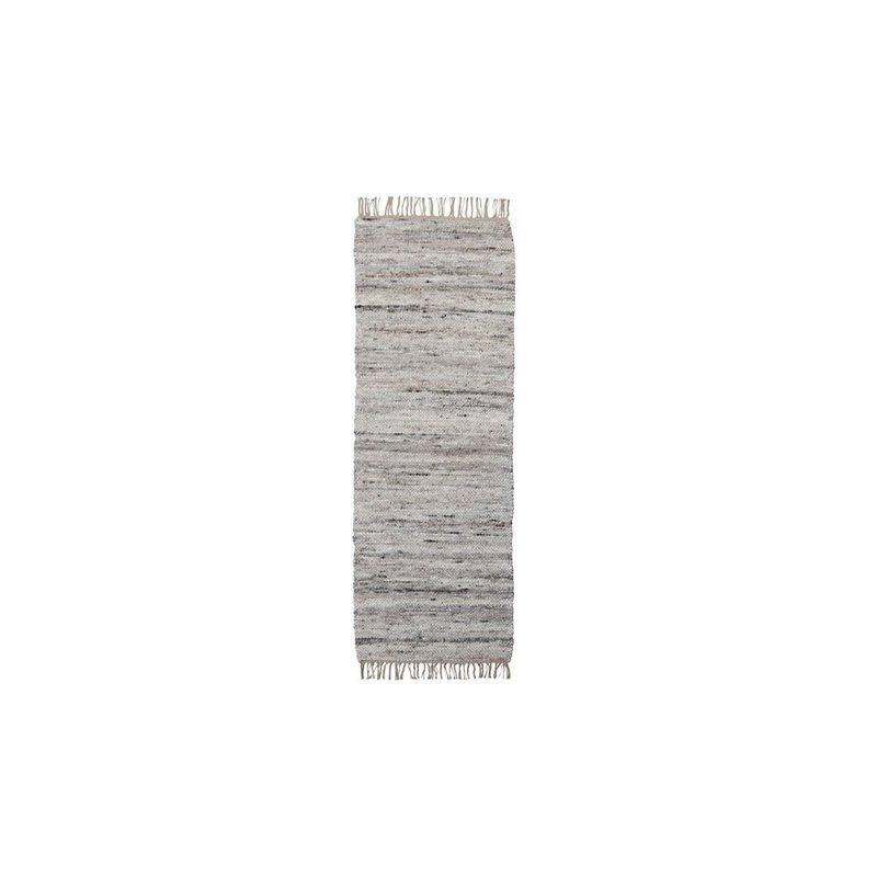 House Doctor-collectie Vloerkleed Hafi Grijs/bruin 80x200 cm