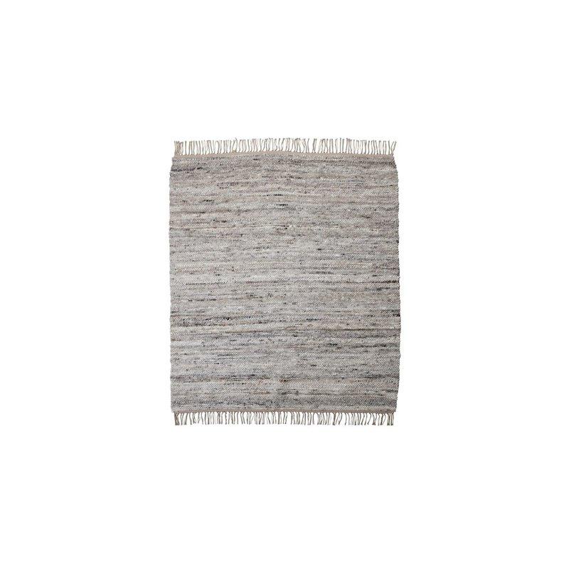 House Doctor-collectie Vloerkleed Hafi Grijs/bruin 180x180 cm