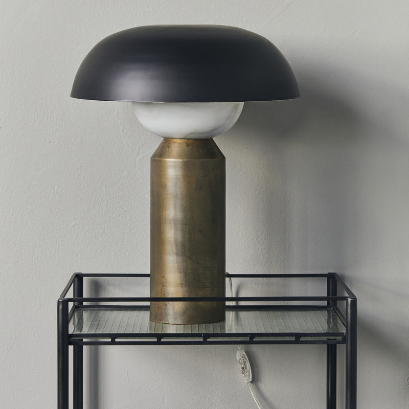 House Doctor-collectie Tafellamp Big fellow Antieke koperen afwerking
