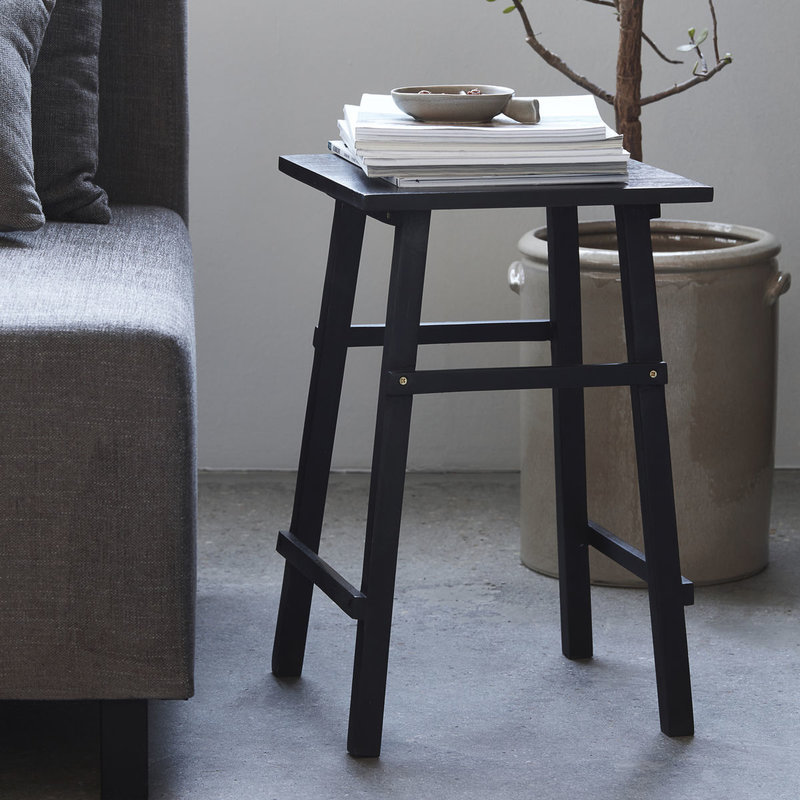 House Doctor-collectie Side table Laddi Black