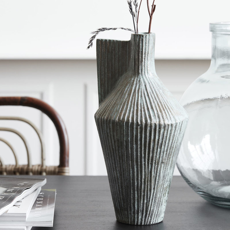House Doctor-collectie Vase Cleo Antique gold