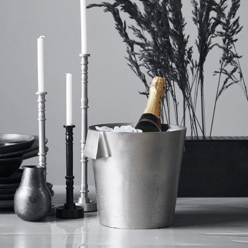 House Doctor-collectie Wijnkoeler Buck Geborsteld zilver 21x22 cm