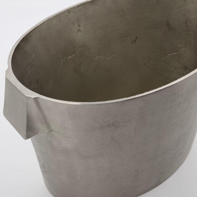 House Doctor-collectie Wijnkoeler Buck Geborsteld zilver 32x22 cm