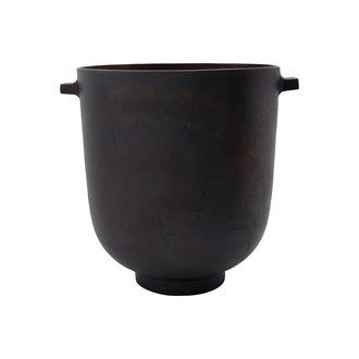 House Doctor Bloempot Foem bruin brass 28 cm
