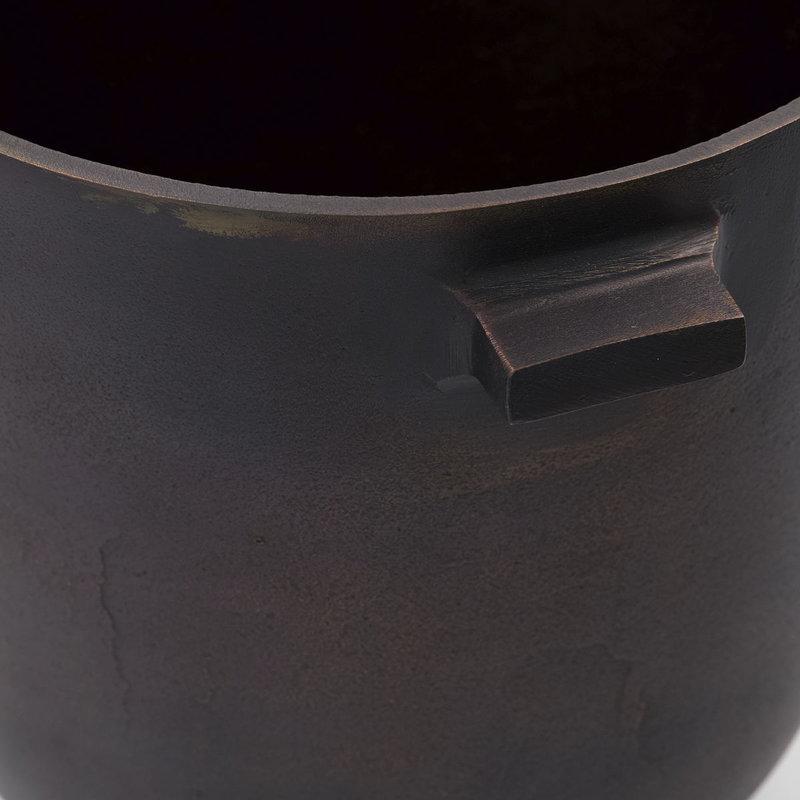 House Doctor-collectie Bloempot Foem bruin brass 28 cm