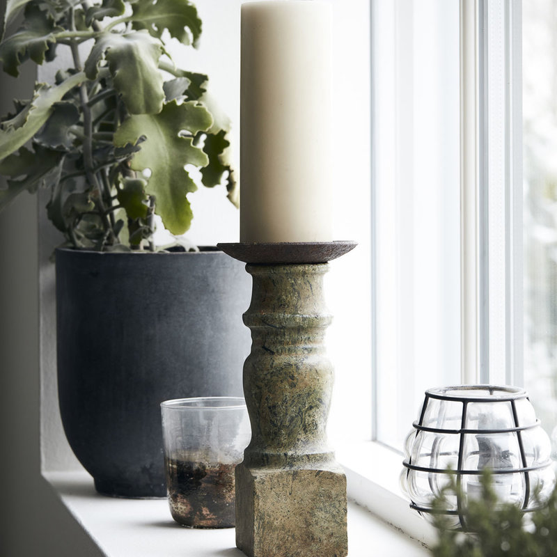 House Doctor-collectie Candle stand Gima Green