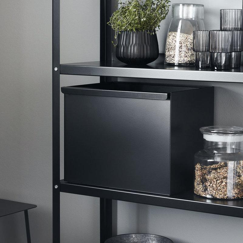 House Doctor-collectie Metalen opbergmand Use Zwart 38x30x30 cm