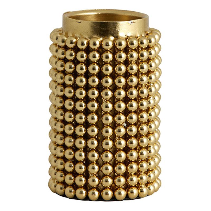 Nordal-collectie FOGO t-light holder, golden, large