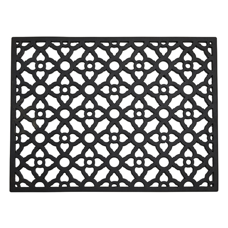 Nordal-collectie CETUS doormat, black rubber