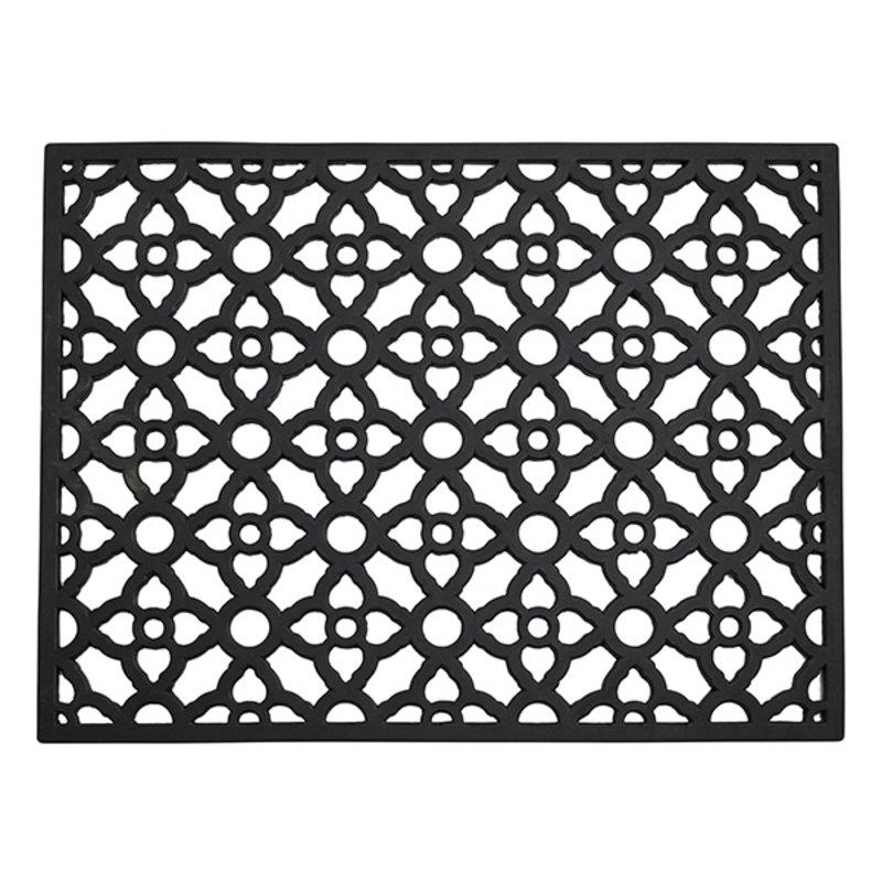 Nordal-collectie Deurmat CETUS rubber zwart