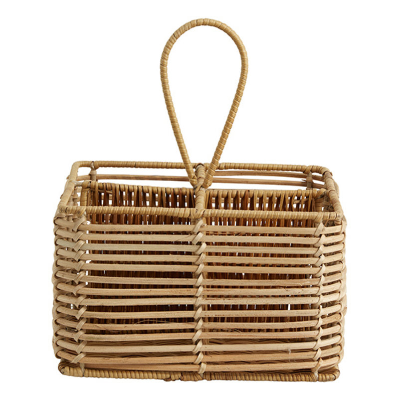 Nordal-collectie ZADAR rattan holder, 4 dividers, nature