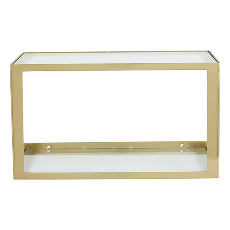 Nordal-collectie NERA shelf w/glass, golden