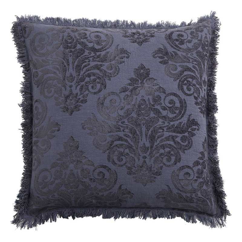 Nordal-collectie Jacquard kussenhoes LEPUS donkerblauw