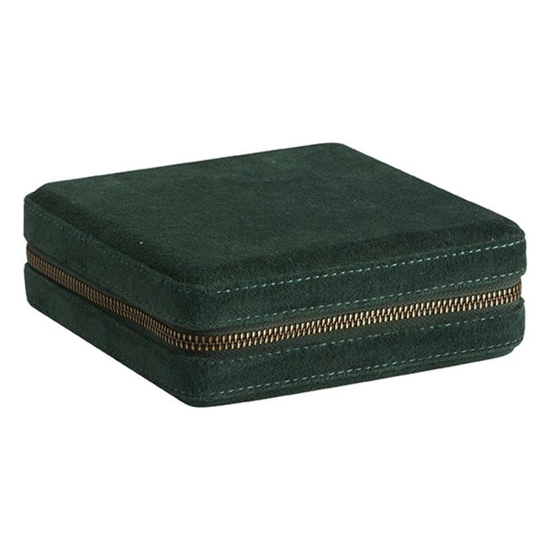 Nordal-collectie Velvet sieradendoosje KIVIK smaragdgroen