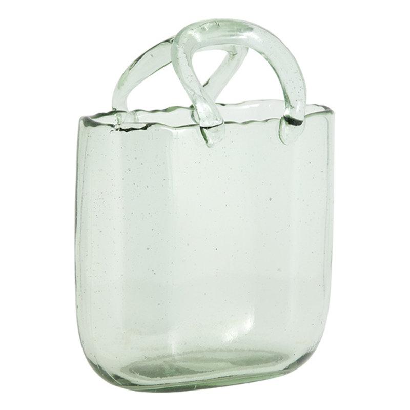 Nordal-collectie Glazen vaas FAULA lichtgroen