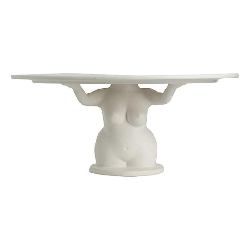 Nordal-collectie AVAJI cake plate, white