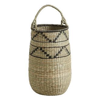 Nordal TROGIR basket w. handle, L, nature