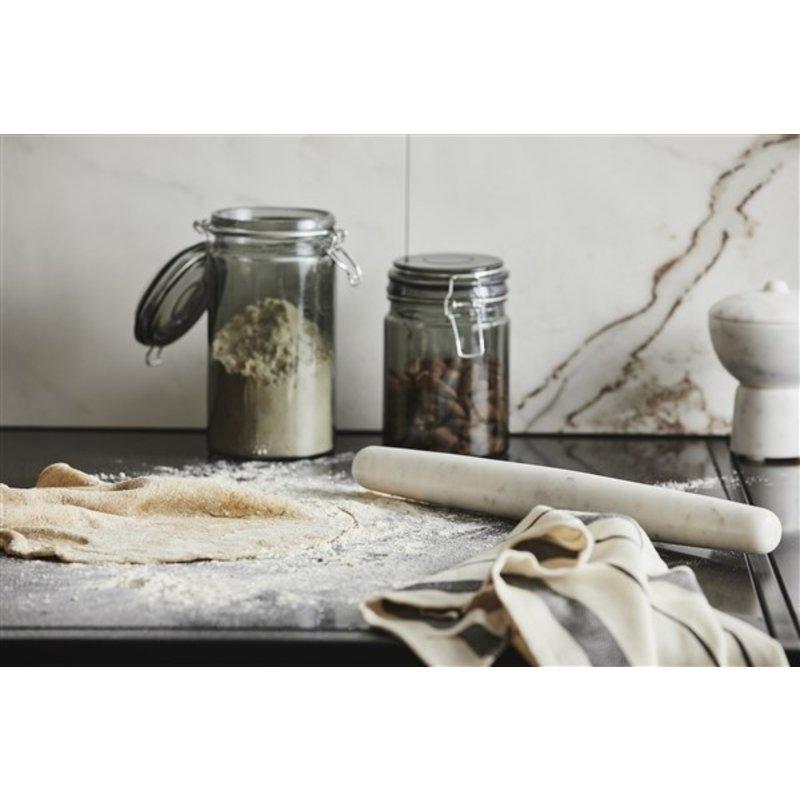 Nordal-collectie FRESNO, cake roll, white marble
