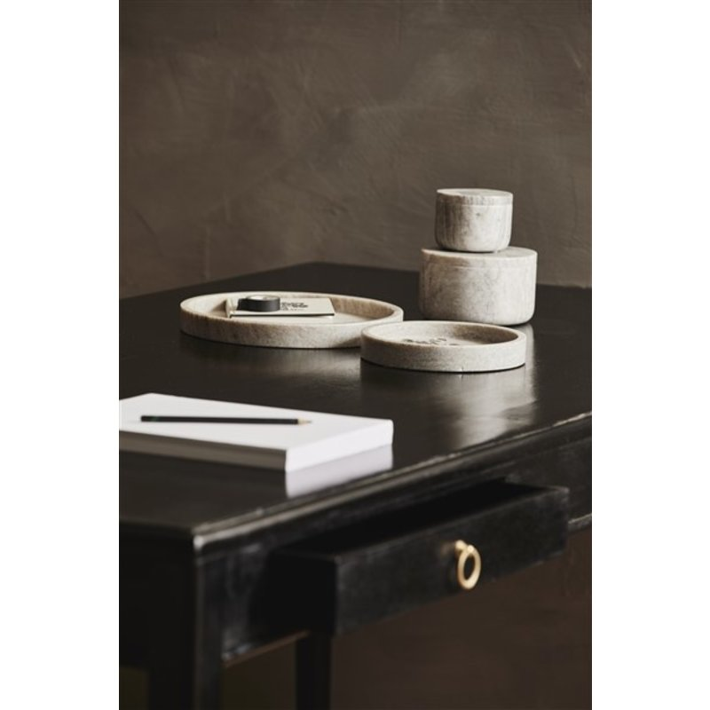 Nordal-collectie GRINA jar, small, brown marble