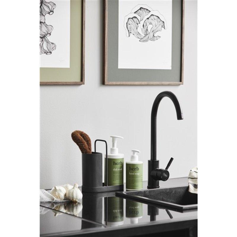 Nordal-collectie KAKI dishwashing kit, black