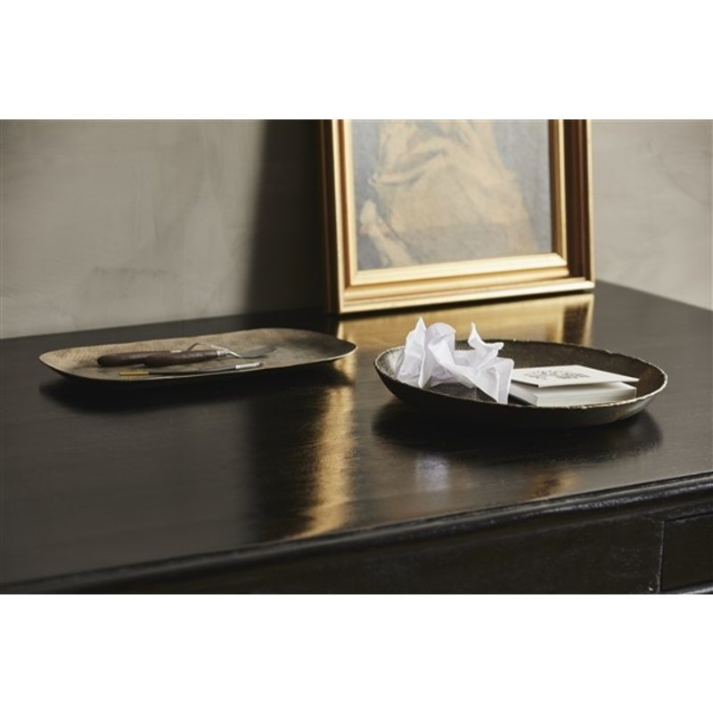 Nordal-collectie DANNA square tray, antique brass