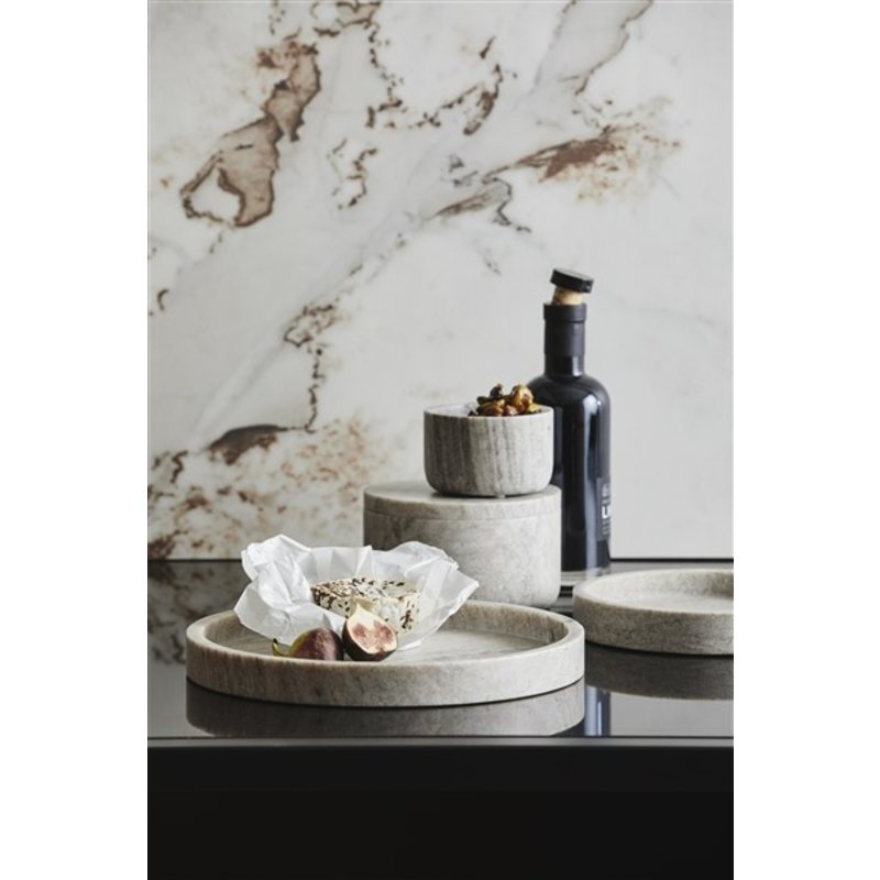 Nordal-collectie Marmeren schaal VINGA lichtbruin S