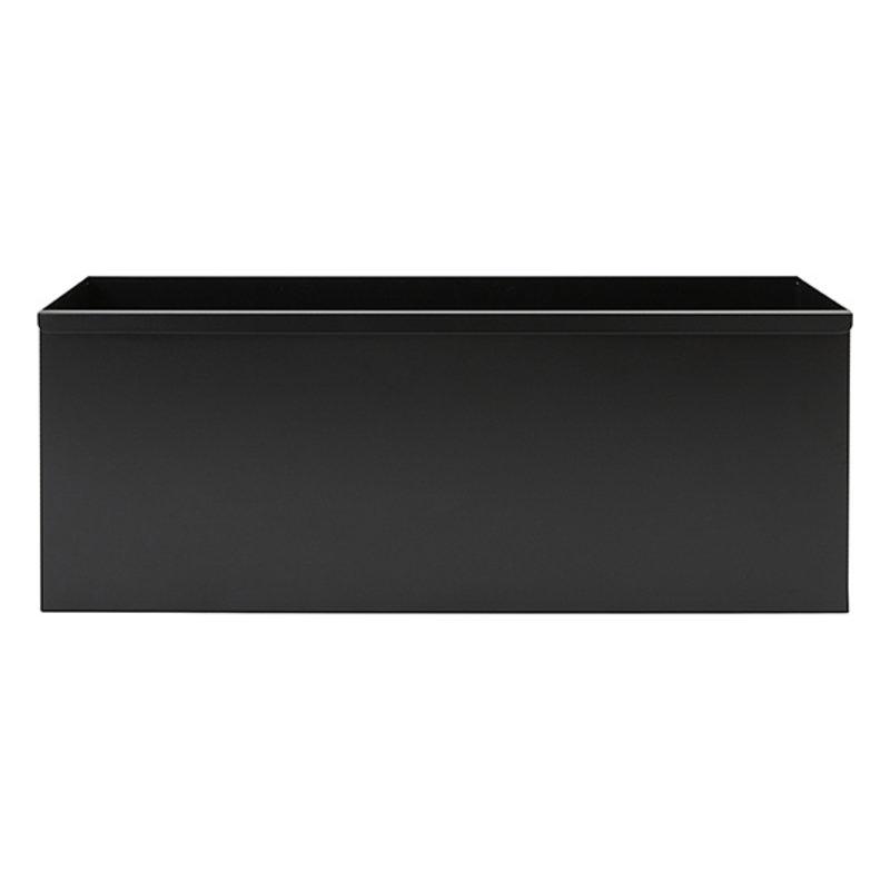 House Doctor-collectie Metalen opbergmand Use Zwart 78x30x30 cm