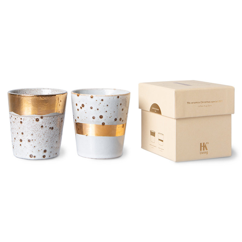 HKliving-collectie Keramieken koffiemok Christmas special 2021