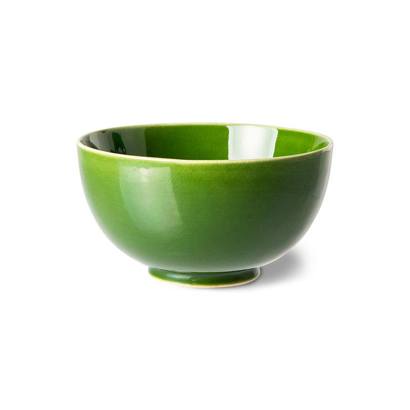 HKliving-collectie the emeralds: ceramic dessert bowl, green (set of 4)