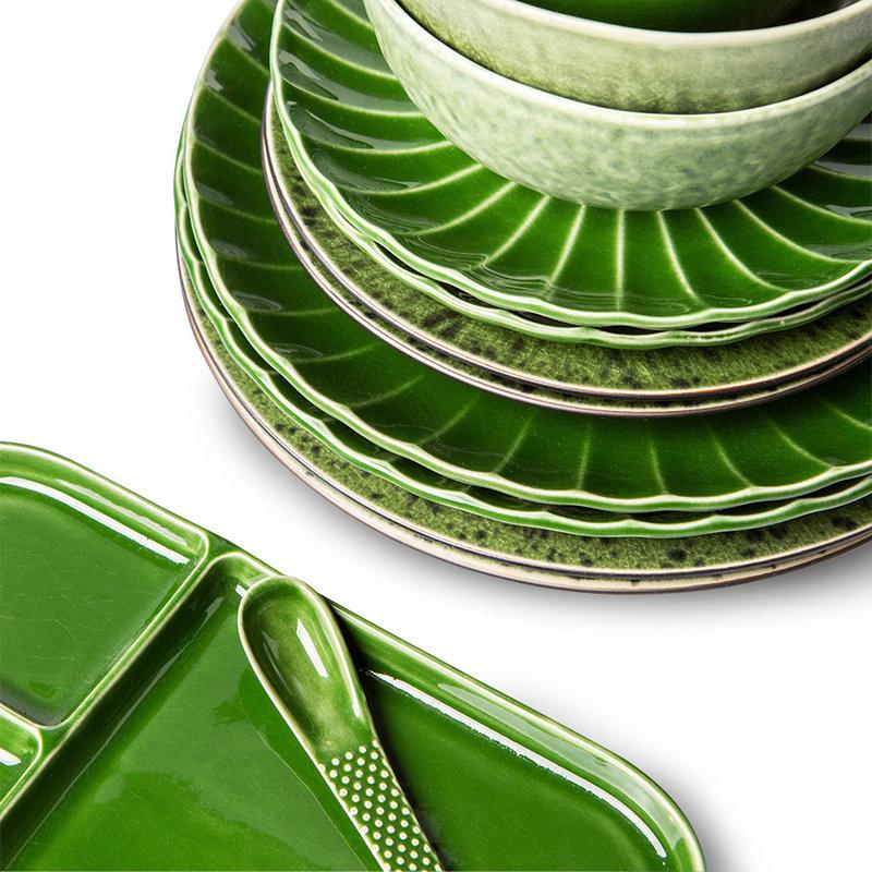 HKliving-collectie The emeralds keramiek dessertschaal groen (set van 4)