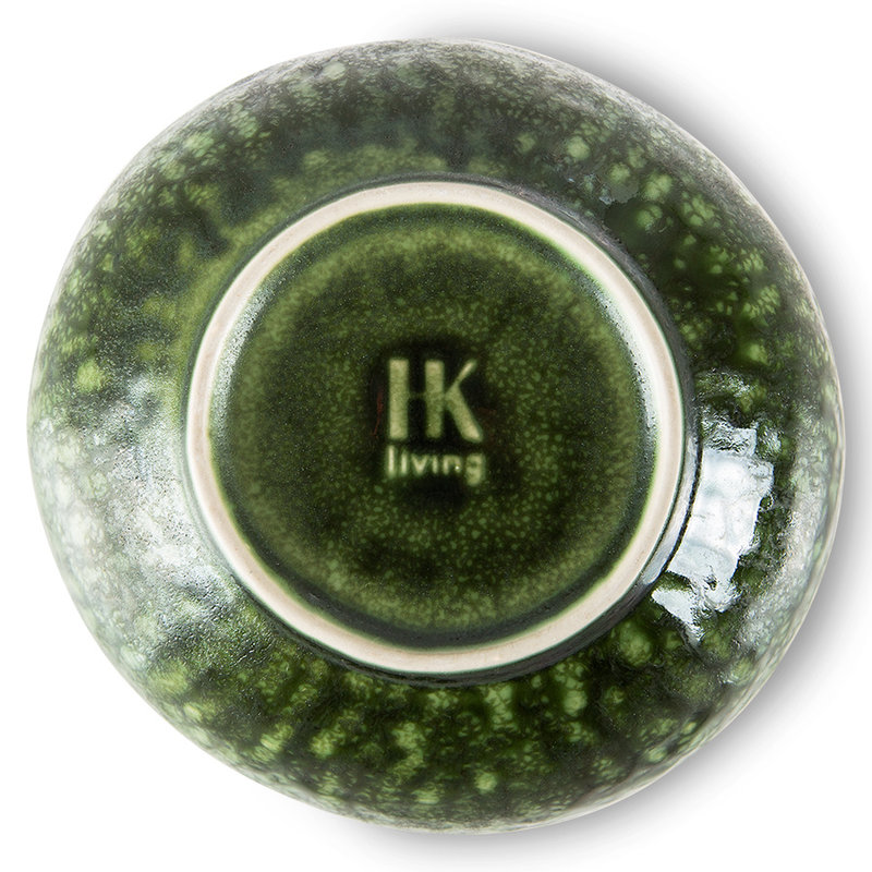HKliving-collectie the emeralds: ceramic bowl organic, green (set of 2)