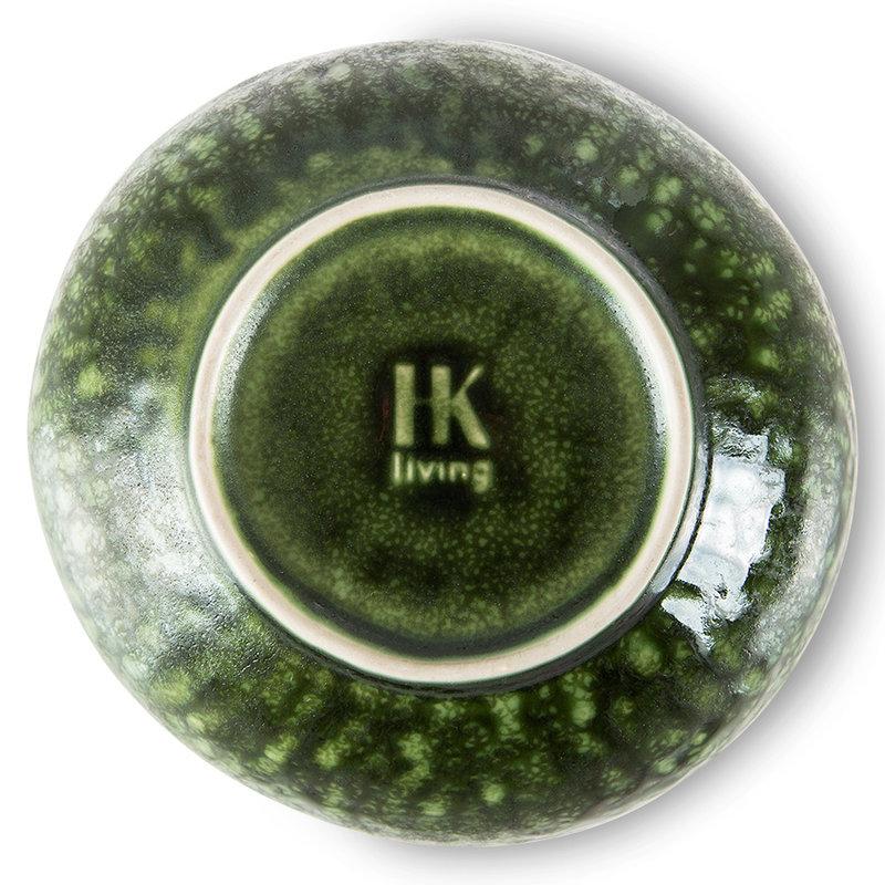 HKliving-collectie The emeralds keramiek schaal organic groen (set van 2)
