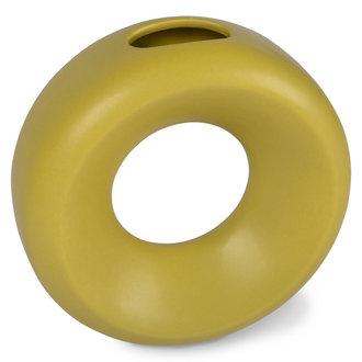 HKliving Keramiek circle vaas S groen