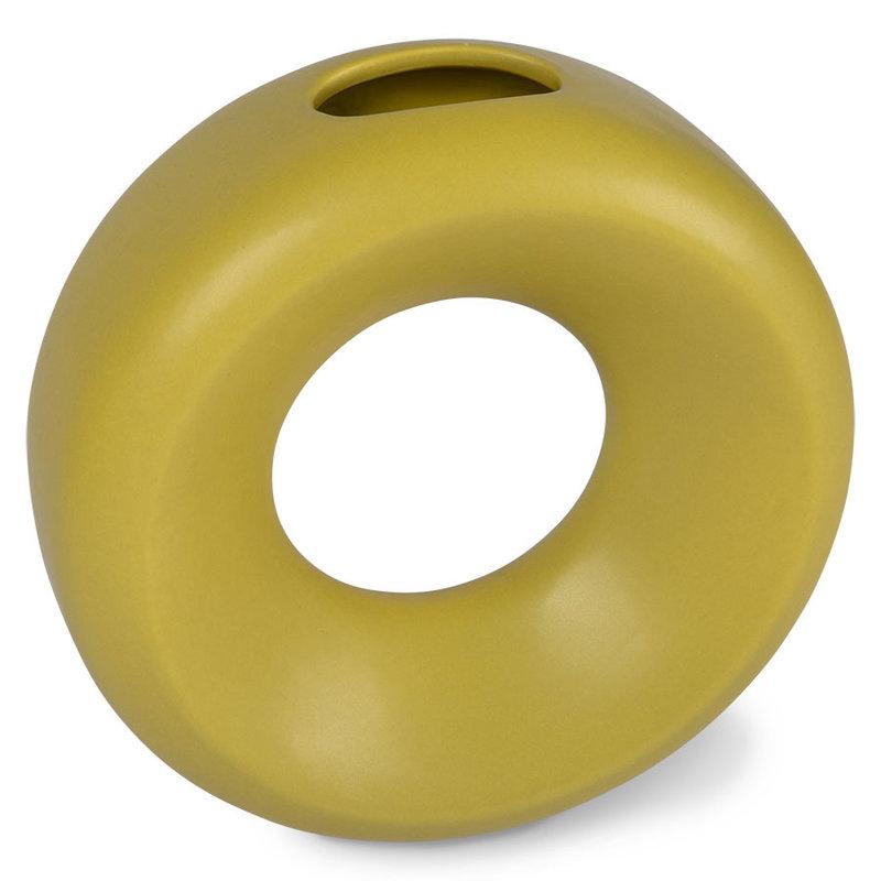 HKliving-collectie Keramiek circle vaas S groen